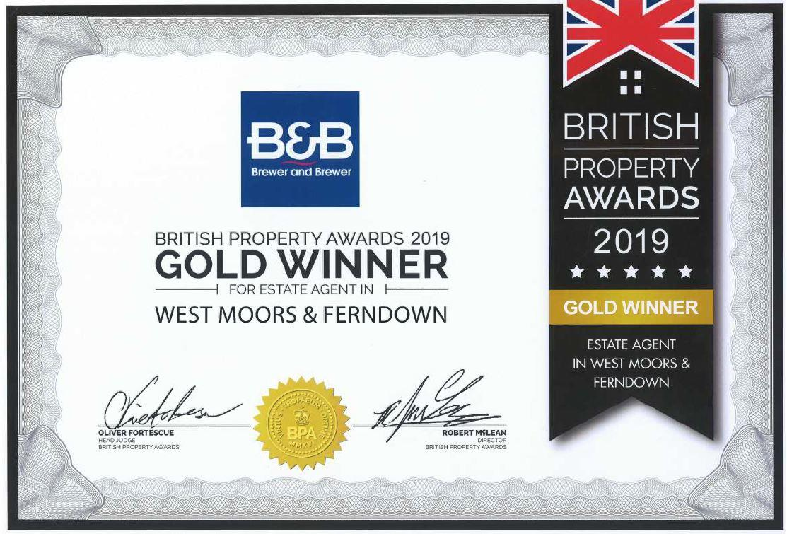 GOLD AT THE BRITISH PROPERTY AWARDS